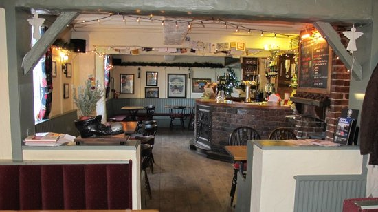 Angel Inn & Lodge: the pub from the dining area