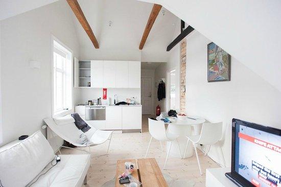 Apartment K : Гостиная с кухней