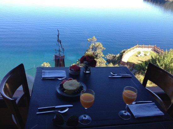 Charming - Luxury Lodge & Private Spa: Vista desde el desayunador