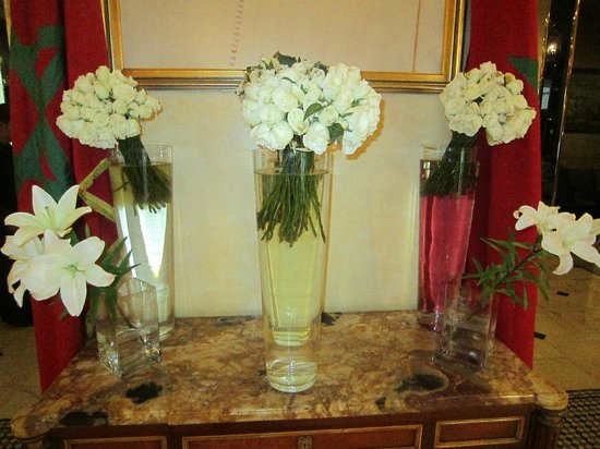 Royal Mansour Casablanca: fresh flowers