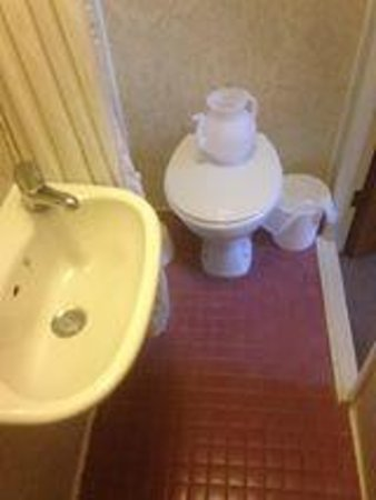 Winrose Hotel: The en suite, what the hell is the teapot for