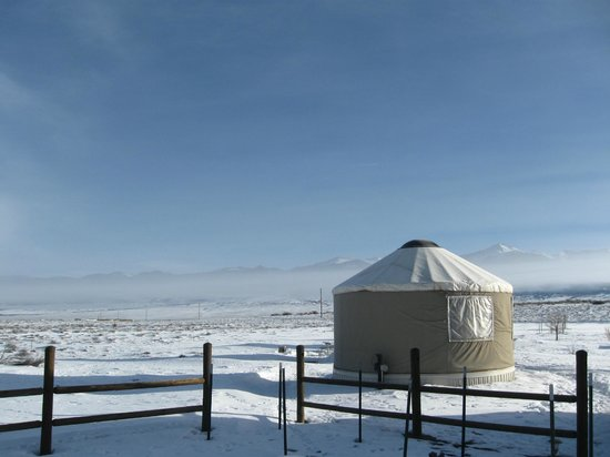 Joyful Journey Hot Springs Spa: Yurt and view