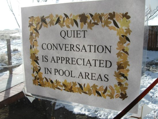 Joyful Journey Hot Springs Spa and Conference Center: PLEASE be quiet!