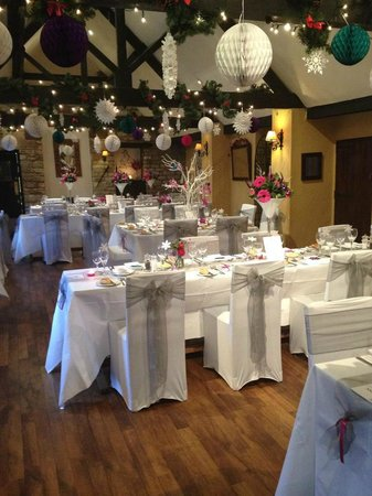 Corinium Hotel & Restaurant: Restaurant set up for Wedding Breakfast