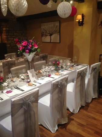 Corinium Hotel & Restaurant: Wedding Breakfast Table