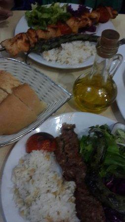 Ejder : Adana kebab and shish taoq