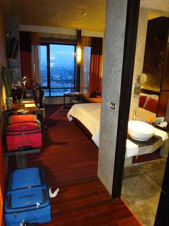Siam@Siam Design Hotel Bangkok: Unser Zimmer mit fantasischer Aussicht