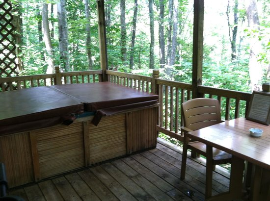 Getaway Cabins: View from the back porch