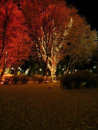 CenterHotel Plaza: A nearby pretty square in the evening