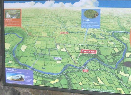 Bru na Boinne: Map of Brú na Bóinne area