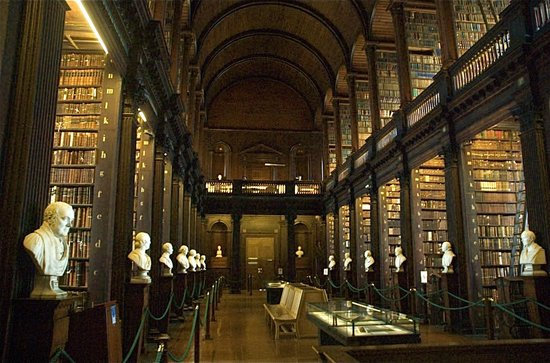The Book of Kells and the Old Library Exhibition: The stunning library at Trinity College