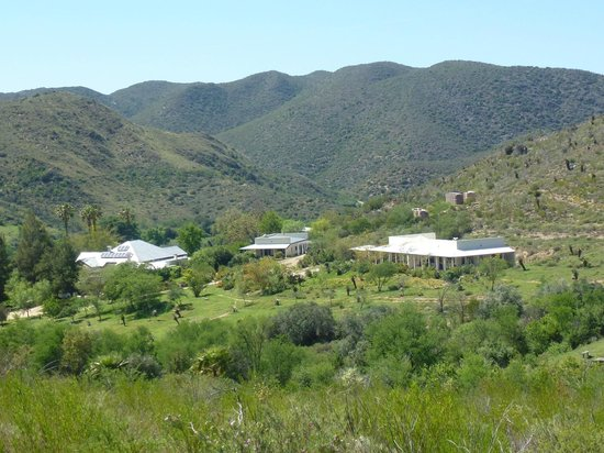 The Retreat at Groenfontein: The Retreat from one of the trails into the Swartberg foothills