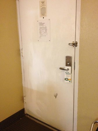 Ramada Odessa Near University of Texas Permian : Door- completely filthy.  Needs repainting.
