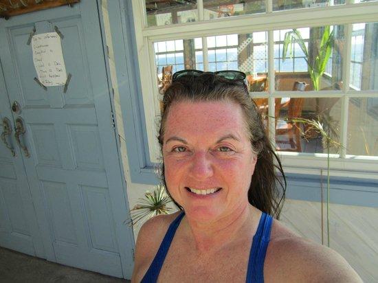 Saba Deep Dive Center: In front of the Saba Deep restaurant, Deep End