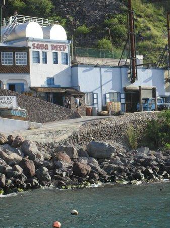 Saba Deep Dive Center: Saba Deep from the harbor