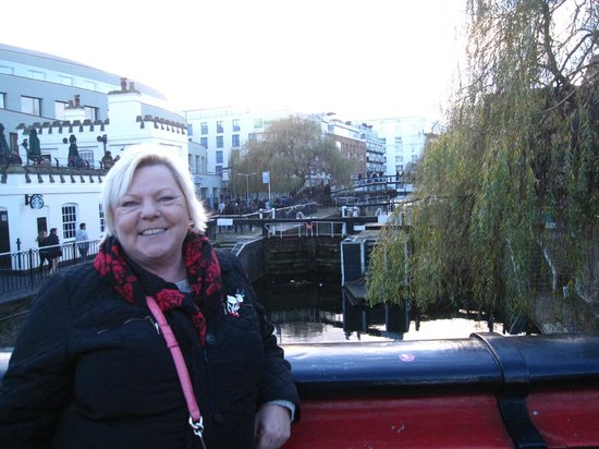 Holiday Inn London - Camden Lock: Standing on bridge with hotel in background