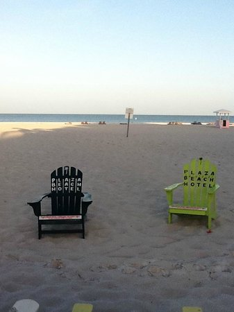 Plaza Beach Hotel - Beachfront Resort : Beach view from pool