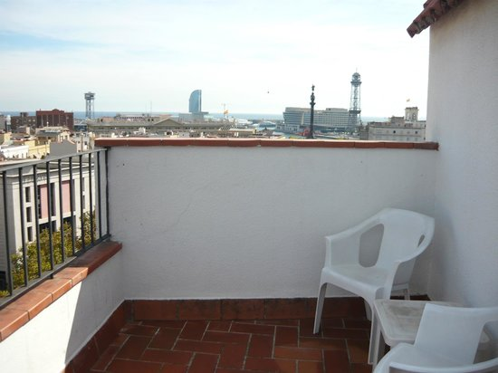 Ramblas Hotel : Large terrace