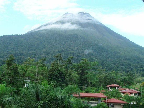 The Royal Corin Thermal Water Spa & Resort: Volcano as seen from our room