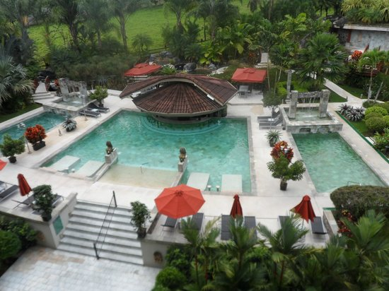 The Royal Corin Thermal Water Spa & Resort: part of pool area from our room