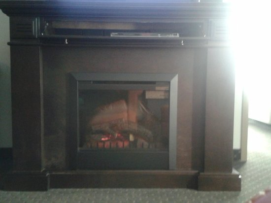 BEST WESTERN PLUS Woodstock Hotel & Conference Centre: Fireplace in the King  Suite