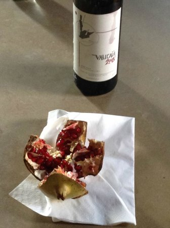 Al Gelso Bianco Farm-Holiday Resort : The wine of the estate and pomegranate from the tree