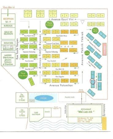 Hotel Bambou : plan de l'hôtel