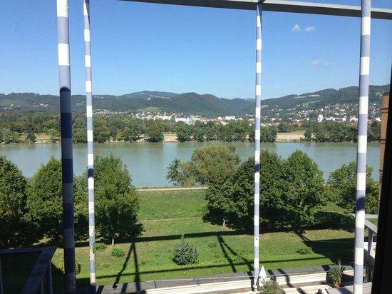 Steigenberger Hotel Linz: Wunderschöne Aussicht