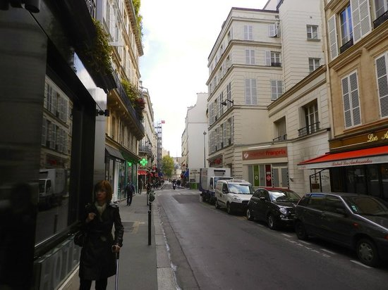 Hotel Saint Germain : Street view, hotel to the left.