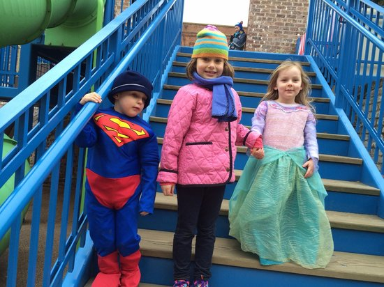 Savannah Children's Museum: Princess, superman, & Miss being myself
