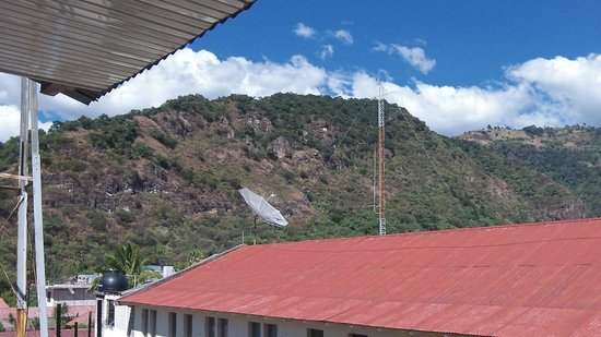 Hotel Kakchiquel: view from 3rd floor area, local rooftops and mountains