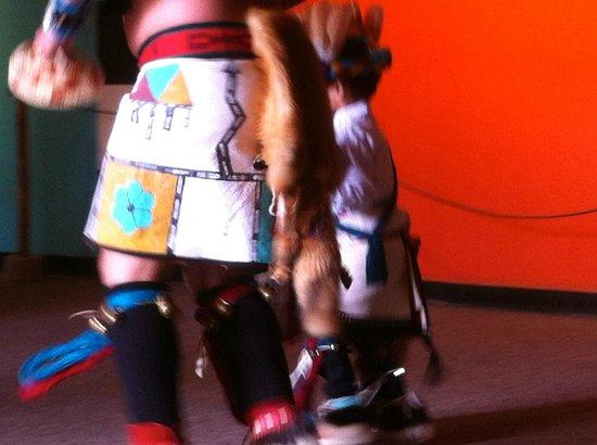 Indian Pueblo Cultural Center: Close up of Native American dancing demo - Laguna Pueblo