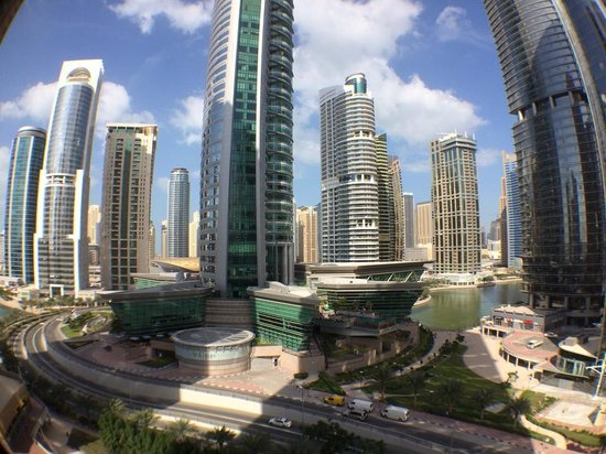 Bonnington Jumeirah Lakes Towers: The view of JLT from my seventh floor balcony.