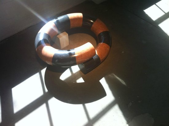 Noguchi Museum: Downstairs, a large coiled sculpture