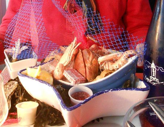 Le Bistro Gourmand: fruits de mer du menu à 28€50