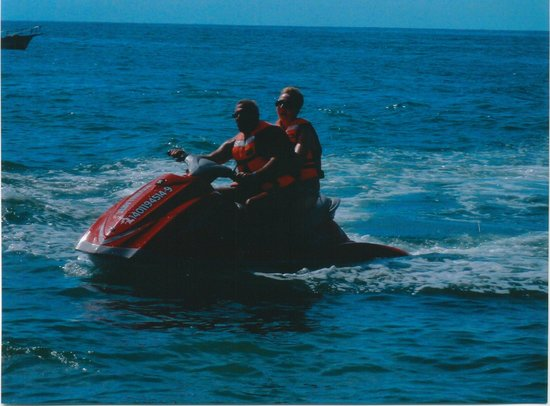 Crown Paradise Golden Resort Puerto Vallarta: My wife and I jet-skiing.