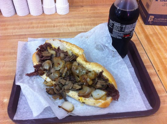 Jim's Steaks South St. : Cheese wiz, mushrooms, and onions!