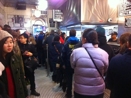 Jim's Steaks South St. : Backed out the door at 2 pm, even while raining