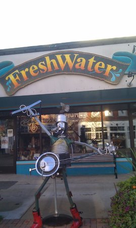 Boyne City, MI: The tin man welcomes you to Freshwater
