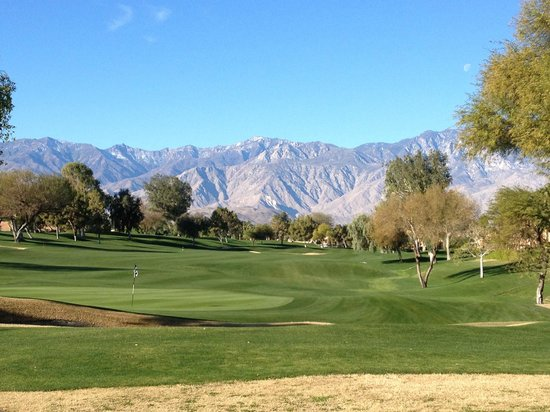 Westin Mission Hills Resort -Pete Dye Course: view from the tee box