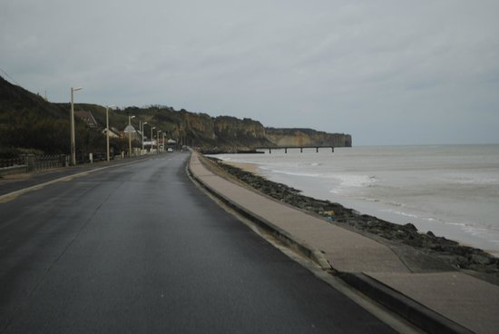 Normandy Battle Tours: Our photo of Omaha Beach from the same spot as Stuart's photo