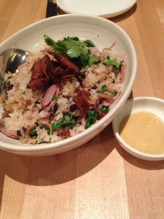 Joule: Duck pastrami fried rice, pickled currant, nam prik  14 - super delicious!