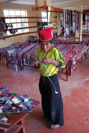 Taquile Island : Tricô com várias agulhas