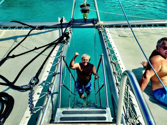 Silver Moon Charters: First snorkling stop they put down a staircase for us to just walk off