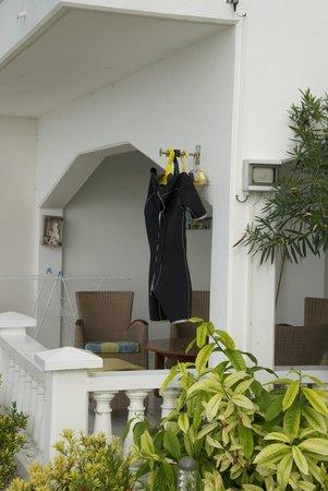 Belmar Oceanfront  Apartments: Convenient Scuba equipment drying in each condo/apt