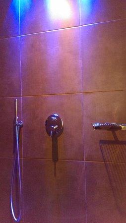 Hotel Chalet Mirabell : begehbare Dusche
