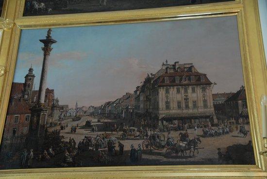 The Royal Castle in Warsaw - Museum : Canaletto Painting 1760's Krakowskie Przedmiescie Street