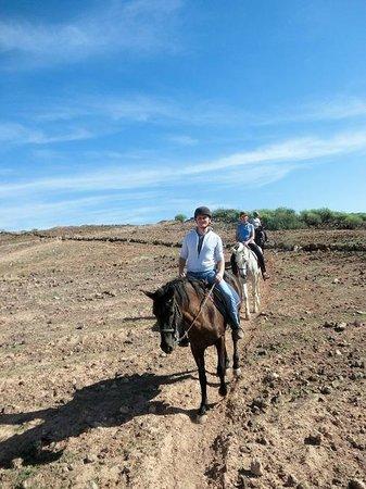 El Salobre Horse Riding: Andrea und Sebastian Dezember 2013