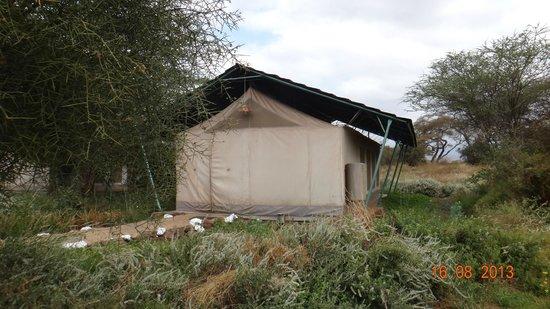 Sentrim Amboseli: esterno della tenda