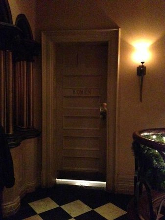 "The Keg Steakhouse + Bar Mansion: the ""haunted"" ladies room on second floor!"